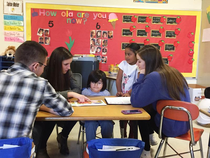 For several weeks in April, Duquesne students visit with bilingual Beechwood Elementary students for their 'Playing to Read, Reading to Play' program.