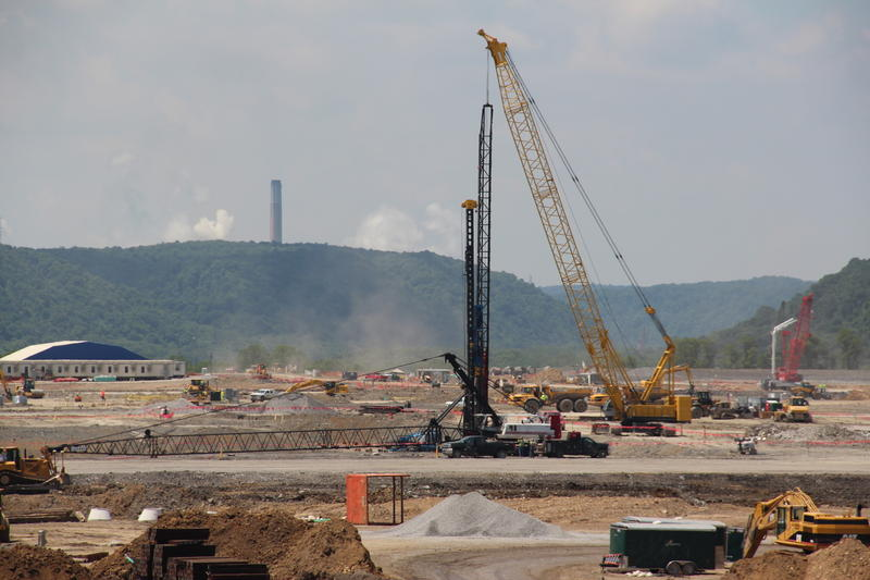 Workers prepare a site in Beaver County for Shell's multi-billion dollar ethane cracker.