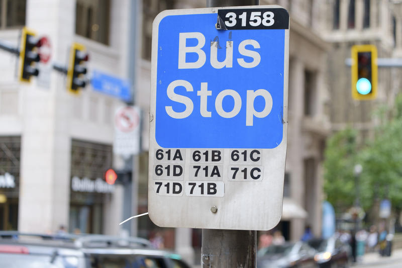 The current bus stop signs in Allegheny County are slated for a technological facelift this year.
