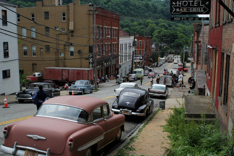 "Vintage cars cover Wabash Street in the West End for the film adaptation of August Wilson's ""Fences"" on Friday, June 3, 2016."