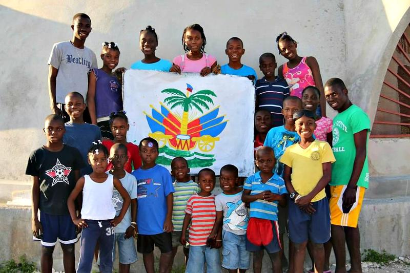 Some of the children from Yahvre-Jire Children's Foundation's orphanage in Haiti.