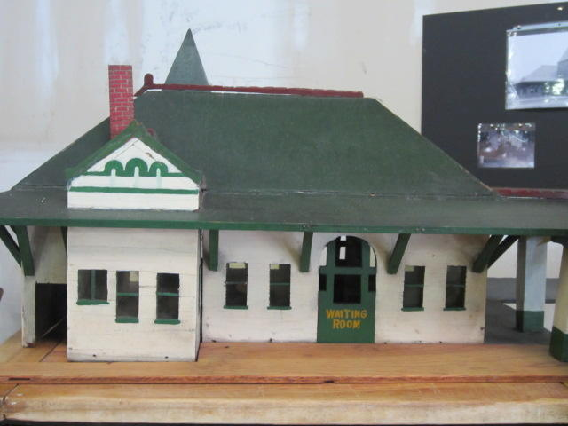 A model of the Coraopolis train station.