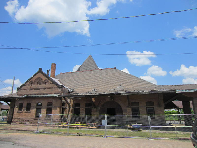The Coraopolis train station, which is undergoing renovation.