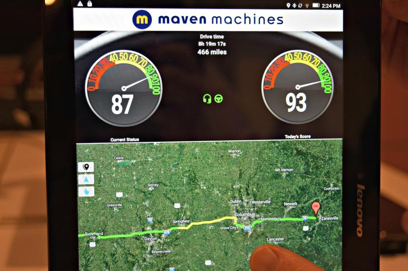 Maven Machines' headset plugs into a smartphone and allows fleet managers to communicate with drivers hands free.
