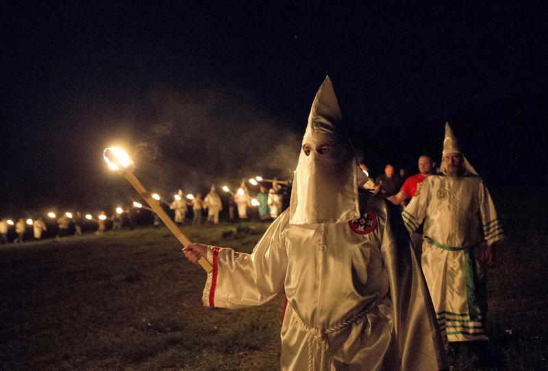 Members of the Ku Klux Klan organize in Georgia on April 23, 2016. The Loyal White Knights, styled after the KKK, is very active in Export, Pa. They're among seven hate groups identified by the Southern Poverty Law Center in southwestern Pennsylvania.