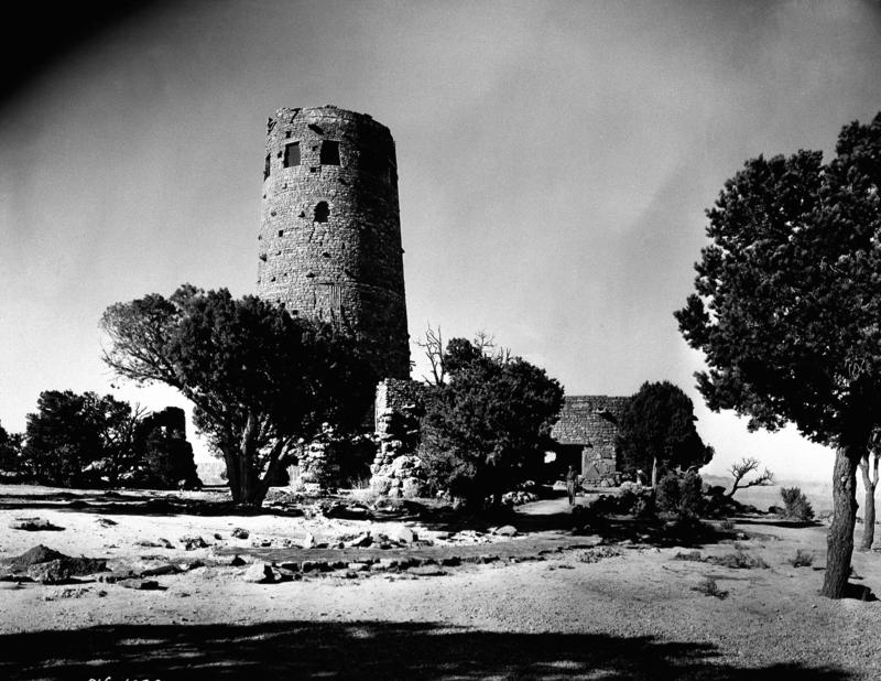 Indian Watchtower at Desert View, South Rim of the Grand Canyon of Arizona is shown in a photo dated May 6, 1933.