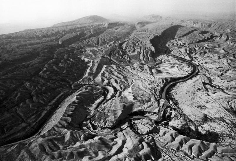 "Aerial view of Big Bend Country, Texas, photographed as part of the ""America the Beautiful"" series in 1969."