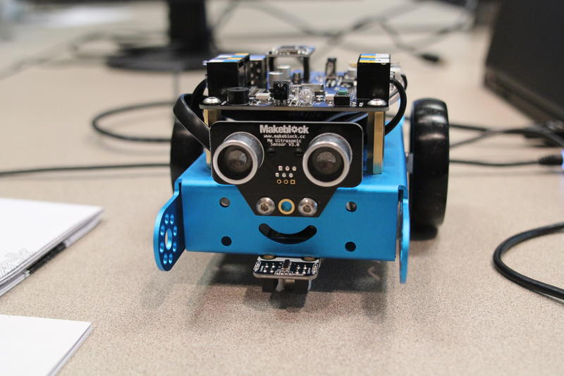 YMCA students assembled Makeblock's mBot robot during a week-long training on human-centered design.
