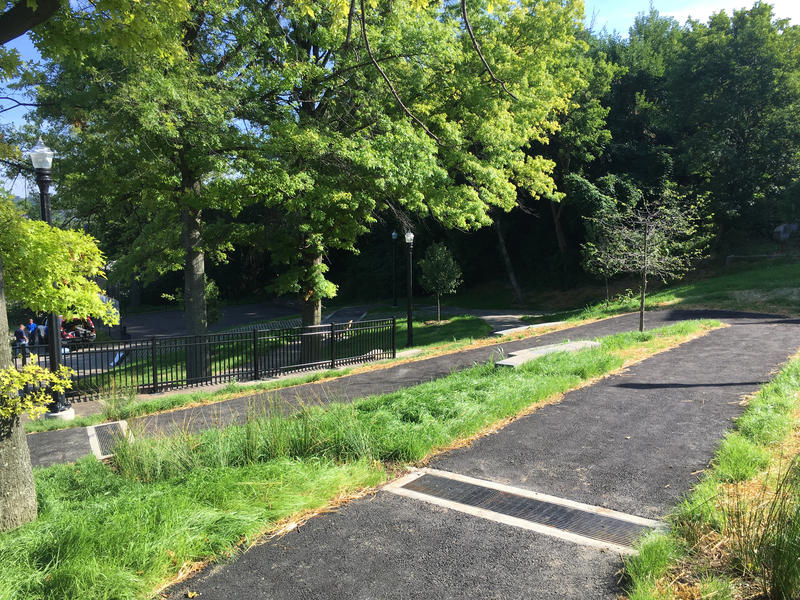 Opening activities for the newly remodeled and renamed August Wilson Park in the Pittsburgh's Hill District neighborhood begin at 2 p.m. Saturday, August 6, 2016.