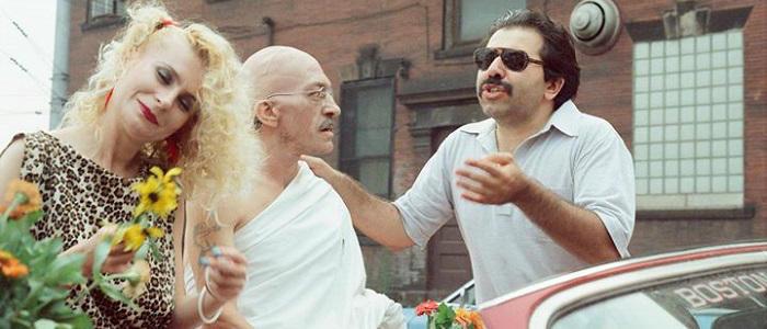Buba (right) on the set of 1988's Lightning Over Braddock.