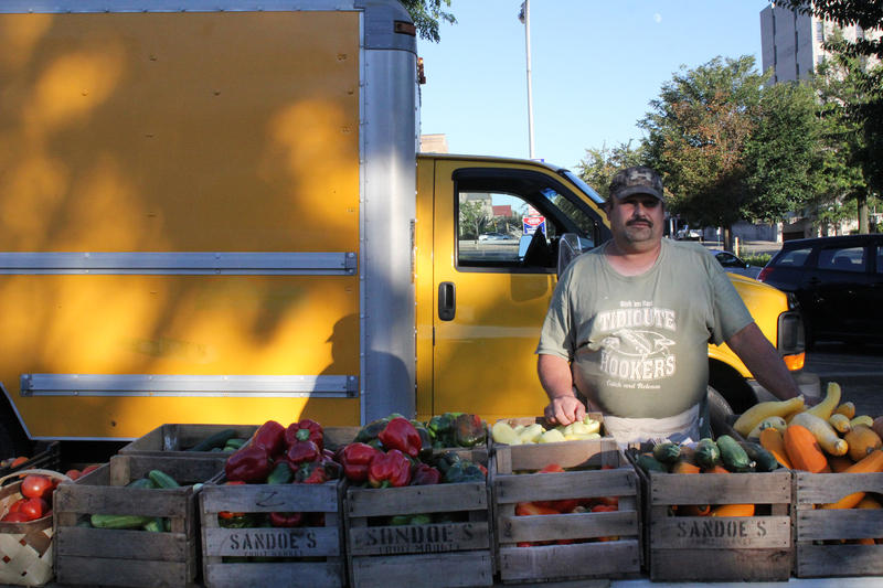 Ed Jodikinos sells produce from his family farm, Jodikinos Farms in Waver County. He said the family has been selling at the East Liberty farmer's market since at least 2002.
