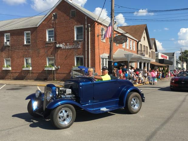 A classic car in the annual King Coal Parade in Carmichaels, Greene County. Pennsylvania has lost about 3,000 coal jobs over the past four years.