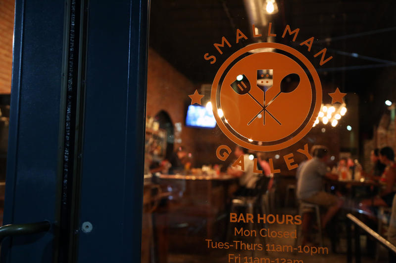 Happy hour diners and drinkers revel inside Smallman Galley, a restaurant incubating space in the Strip District, on Thursday, Sept. 8, 2016.