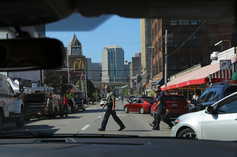 Self-driving cars debuted for consumer use in Pittsburgh on Wednesday, Sept. 14, 2016. The cars were often controlled manually by pairs of in-car technicians who watched for pedestrians, cars attempting to parellel park and other traffic maladies.