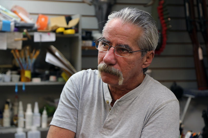 Sam Stelitano, 65, bought a building on Sharpsburg's main drag more than 20 years ago. He and his brothers planned to co-run the tackle, taxidermy and gun shop, but they split up early on. He's tired, he said.