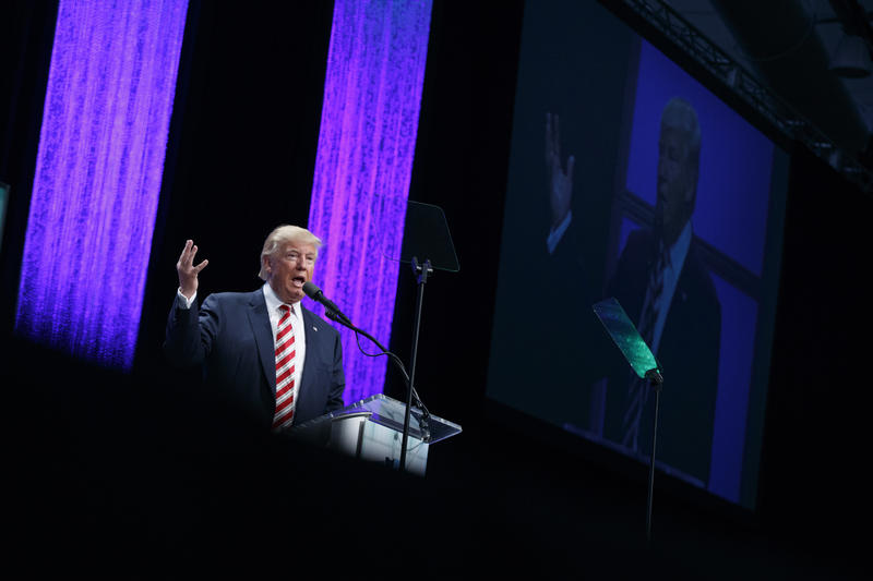 Republican presidential candidate Donald Trump speaks at the Shale Insight Conference, Thursday, September 22, 2016 in Pittsburgh. PA