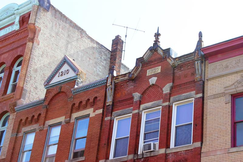 Buildings along East Carson Street on the South Side have been restored to mixed-used buildings. Many structures in the stretch were scheduled for demolition when urban renewal dominated development trends in the 1960s and 70s.