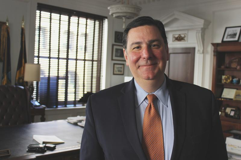 Mayor Bill Peduto in his office in downtown Pittsburgh on Monday, Oct. 10, 2016.