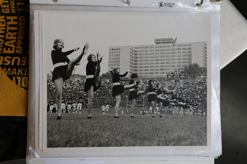 Steelerettes in 1964 perform a kick line at Pitt Stadium, where the Steelers would play all their home games until 1970 when they moved to Three Rivers Stadium.