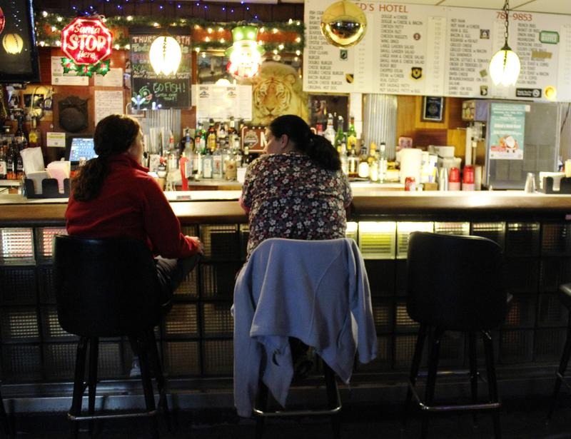 In the past, early-opening bars were frequented by blue collar laborers, but now in Pittsburgh nurses tend to fill the bar stools. Two night-shift nurses grab a drink after work at Nied's Hotel on Friday, Dec. 9, 2016.