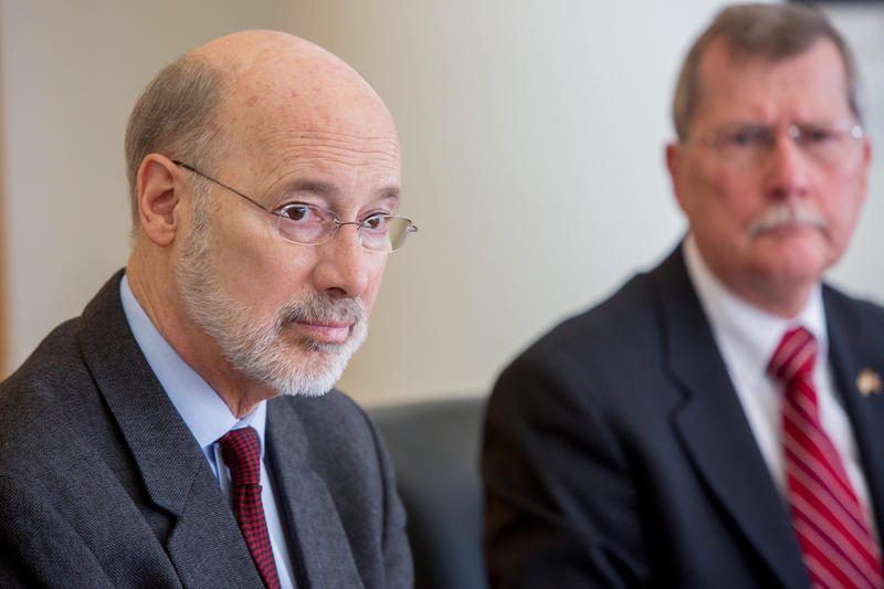 Gov. Tom Wolf hosts a discussion on the state's opioid epidemic in Philadelphia on Monday, Jan. 20, 2017.