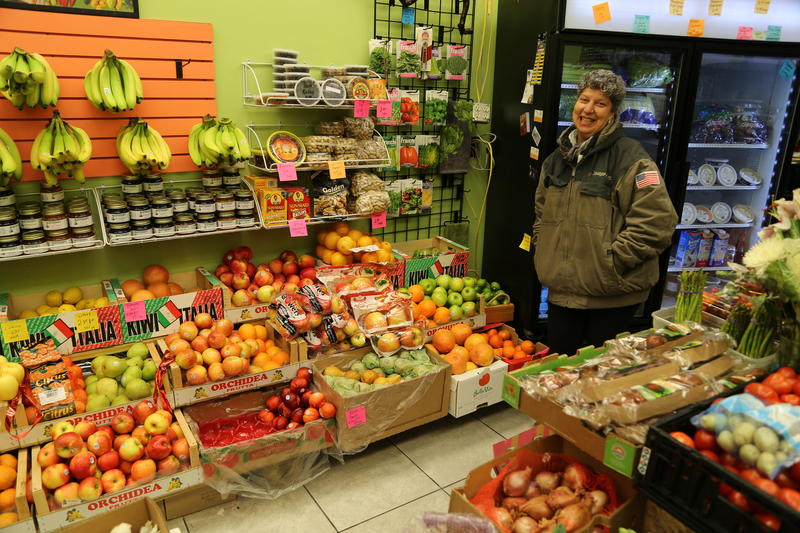 Gina Merante, 50, stands in her store, Linea Verde Green Market in Bloomfied on Wednesday, Jan. 18, 2017. She says once people realize they have access to fresh produce right down the street, they seek out her small produce shop.