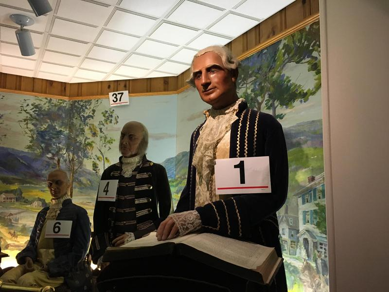 The first item up for auction was a life-size George Washington.