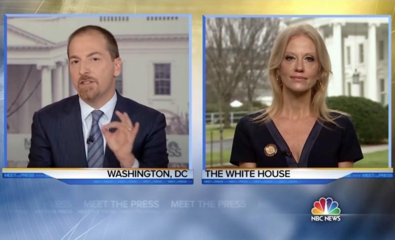 "White House counselor Kellyanne Conway told Meet the Press host Chuck Todd on Sunday, Jan. 22, 2017, that Press Secretary Sean Spicer presented ""alternative facts"" about the inflated estimate of President Donald Trump's inauguration crowd. Todd countered:"