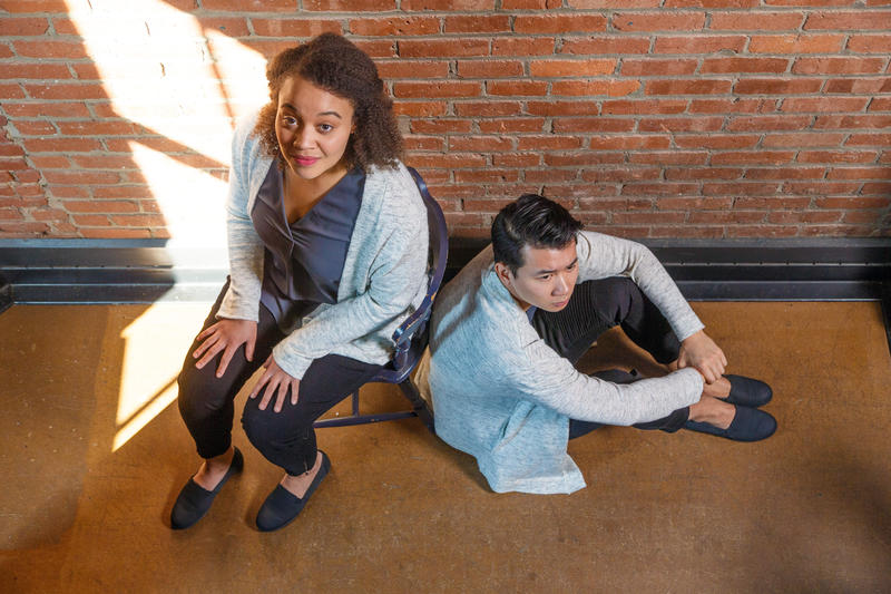 "Pittsburgh Opera Resident Artists Taylor Raven and Brian Vu both portray Hannah in ""As One"""