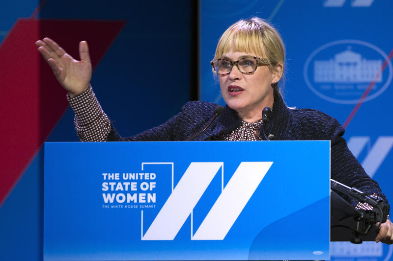 Actress Patricia Arquette addresses the White House Summit on the United States of Women in Washington on Tuesday, June 14, 2016. Arquette has been vocal about the need for equal pay between men and women.