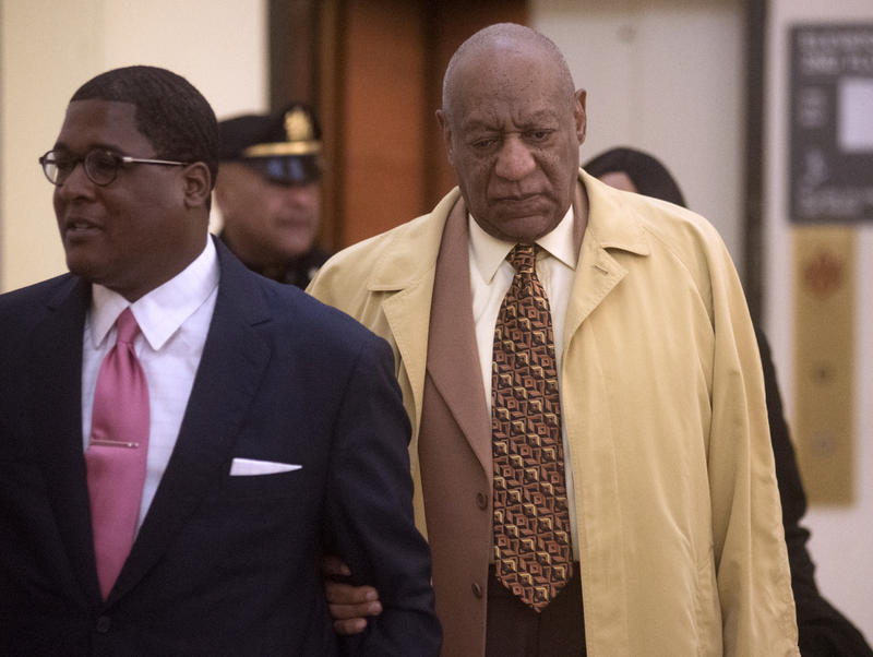 Bill Cosby arrives for a pre-trial hearing at the Montgomery County courthouse Monday, Feb. 27, 2017, in Norristown, Pa.