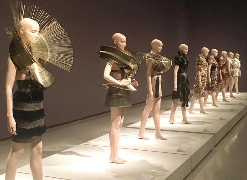 Mannequins feature clothing by the designer Iris van Herpen, as part of the Carnegie Museum of Art's newest exhibit.