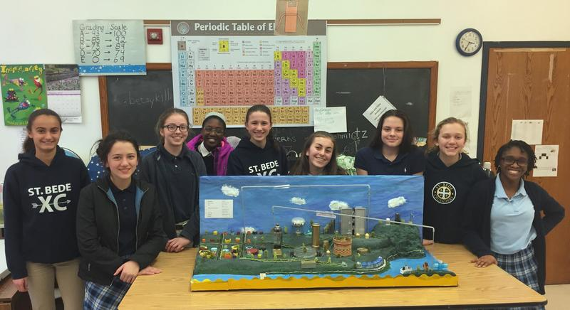 The 2017 Future City regional winners from St. Bede's School in Point Breeze. The school's teams have won 8 of the past 18 competitions, more than any other team. They travel to compete in the national competition in Washington D.C. this weekend.