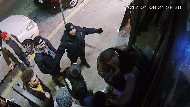 Exterior surveillance footage released by the Pittsburgh Bureau of Police shows officer Paul Abel yelling at Steelers' assistant coach Joey Porter outside the South Side Flats, a bar on East Carson Street, where bouncers had declined to let Porter inside.