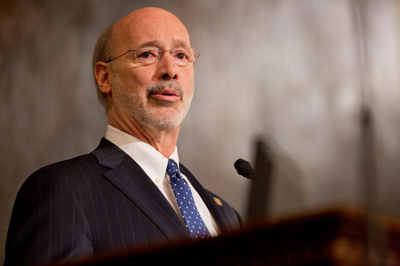 Gov. Tom Wolf asked state lawmakers to vote against the Republican-crafted health care bill.