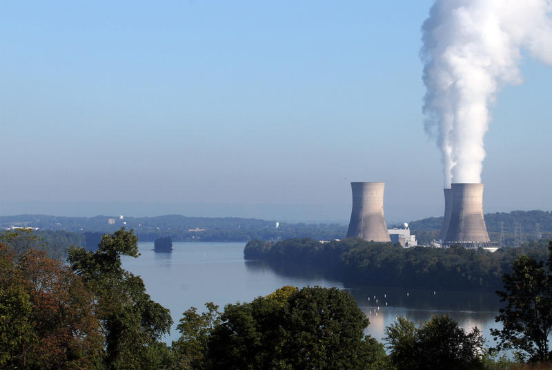 Three Mile Island Nuclear Generating Station, in Londonderry Township near Middletown, Pa., is show from across the Susquehanna River near York Haven, Pa., Wednesday, Sept. 18, 2013.