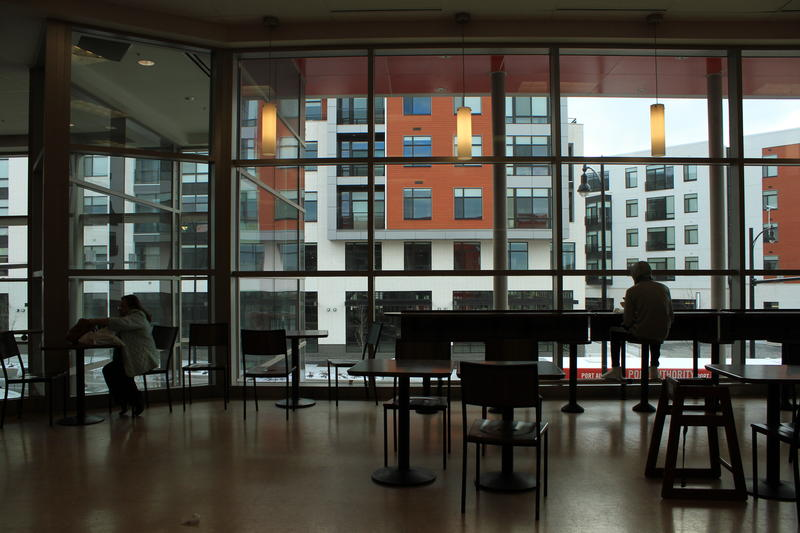 The Mosites Company's multi-phase Eastside development in East Liberty included construction of a Target. A glimpse of East Side Bond, a commercial and residential complex across the street, is visible from inside the store's second-floor cafe.