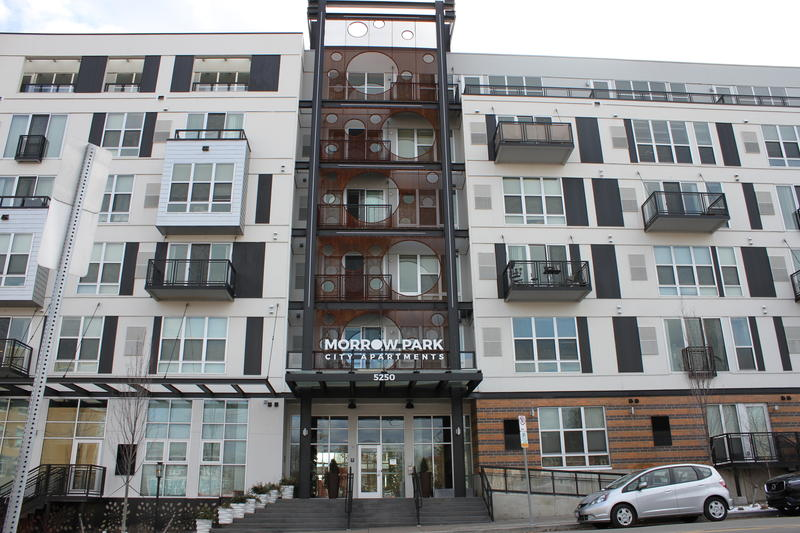 The 213-unit Morrow Park City Apartments front on Liberty Avenue, one of Pittsburgh's busiest corridors. Developer, Village Green.