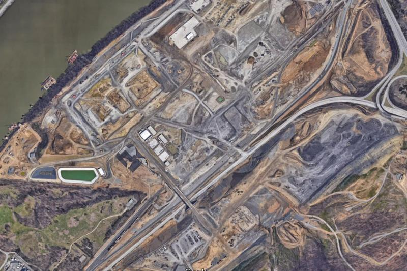 A Google Earth image of the site where Shell is building a multi-billion-dollar petrochemical plant near Pittsburgh.