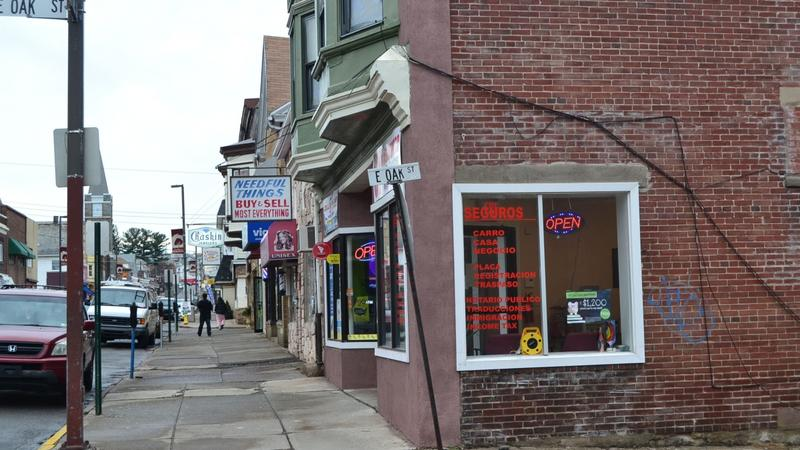 Many of Hazleton's empty storefronts have been filled by Latino-owned businesses.