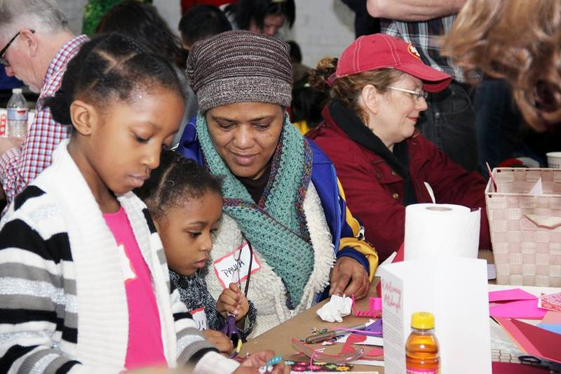 Hundreds of Pittsburghers and refugees came together for a craft-making event at The Shop in Homewood in February.