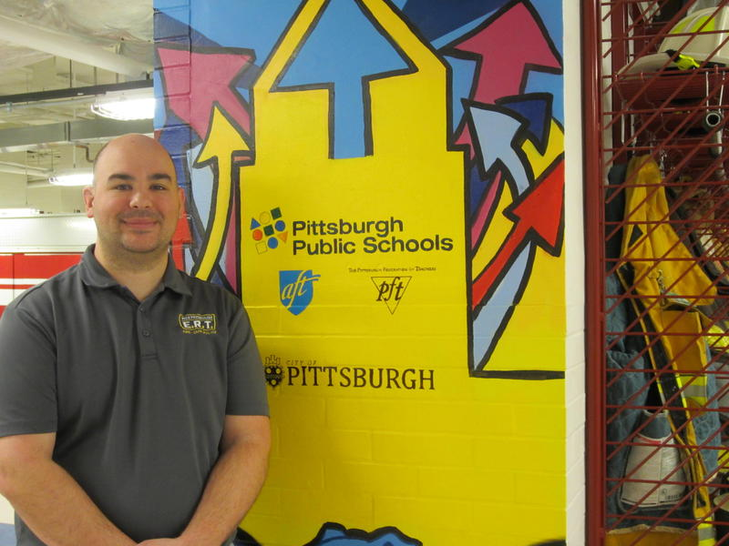 Firefighter and EMT Matthew Patrick is the instructor of the Career and Technical Edcation Emergency Response Technology program at Westinghouse High School.