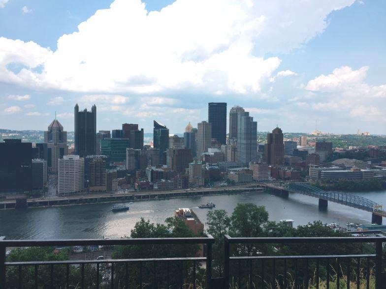 Pittsburgh as seen on a sunny day on July 23, 2016.