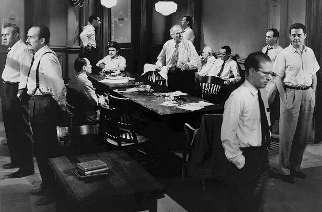 Directed by Sidney Lumet for Orion-Nova Productions in 1957, the dramatic film 12 Angry Men follows the deliberations of an American jury as they weigh whether to convict a teen on the basis of reasonable doubt.