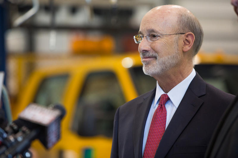Gov. Tom Wolf announced infrastructure investments for the 2017 construction season while in Lackawanna County on Wednesday, April 5, 2017.