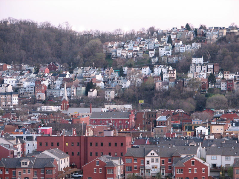Houses and buildings in Pittsburgh's South Side Slopes neighborhood.