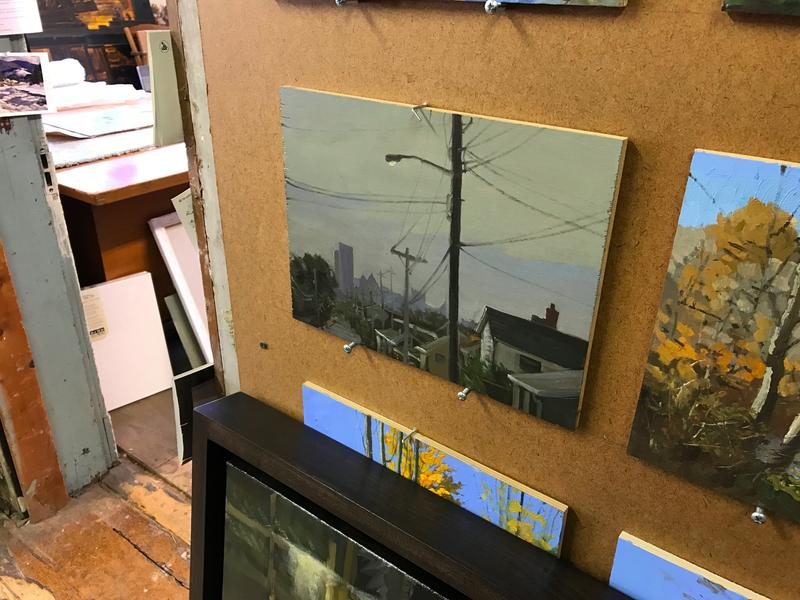 Donoughe said he is not painting postcards, rather the parts of Pittsburgh that make it interesting