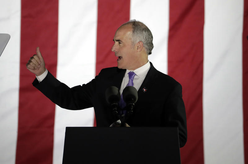 Sen. Bob Casey, D-Pa., speaks during a Hillary Clinton campaign event at Independence Mall on Monday, Nov. 7, 2016 in Philadelphia.