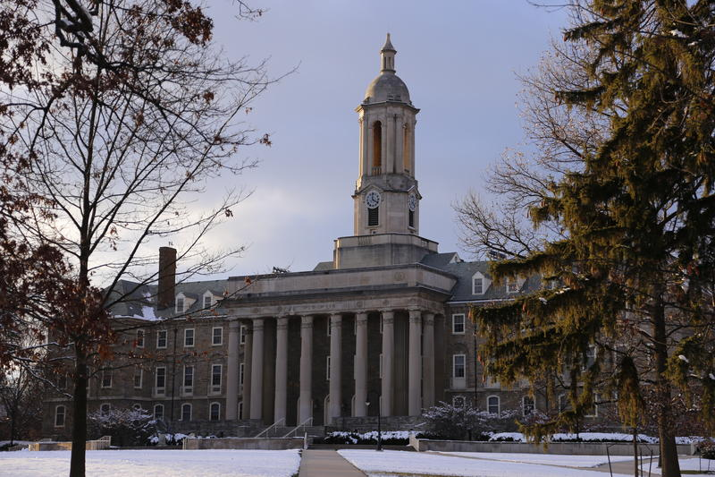 This is Old Main on the Penn State University campus Friday, Nov. 28, 2014 in State College, Pa.