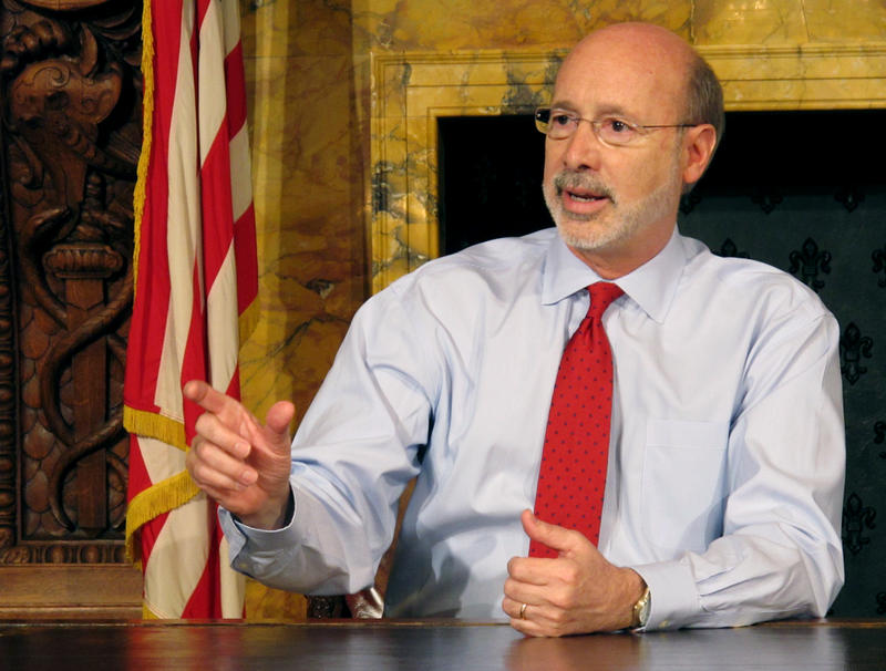 "Gov. Tom Wolf discusses his diagnosis of what he called ""treatable prostate cancer"" on Wednesday, February 24, 2016."